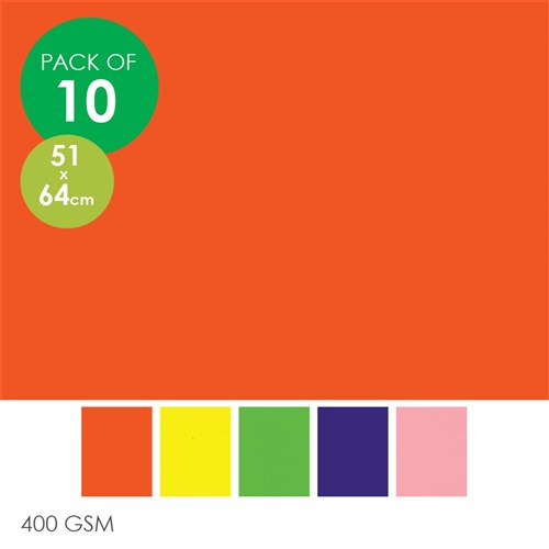 poster board 510 x 640mm pack of 10