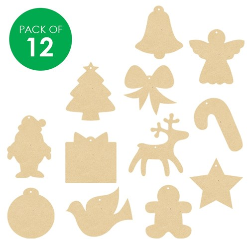 wooden christmas shapes assorted