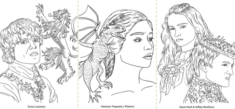 Game Of Thrones Coloring Book Sketch Coloring Page