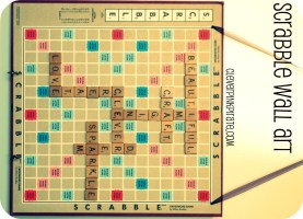 Upcycled: DIY Scrabble Wall Art for the Craft Room/Office ...
