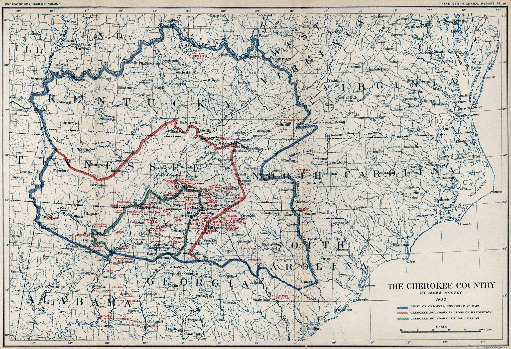 Map Of Cherokee Country
