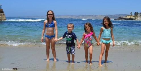 The children at Children's Pool