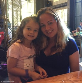 Lila and Brooke at lunch
