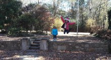 Emily leaping!
