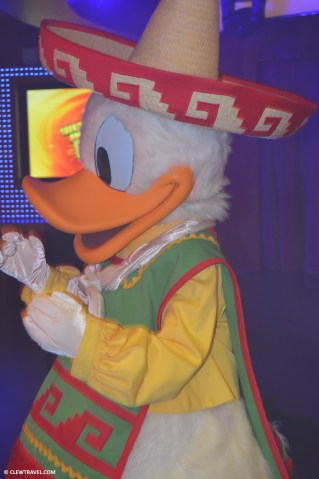 Donald at his party