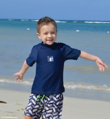 Weston loves the beach