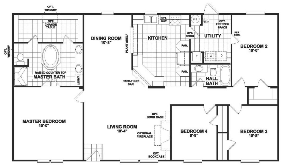Double Wide Manufactured Home Plans