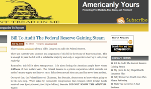 Audit the Federal Reserve Bill Gaining Steam