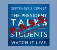 Send a Message About Sept. 8 Presidential Address SKIP SCHOOL & P.A.S.S.!