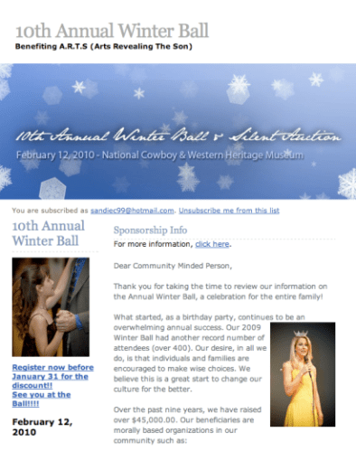 Annual Winter Ball for Charity in Oklahoma – February 12th