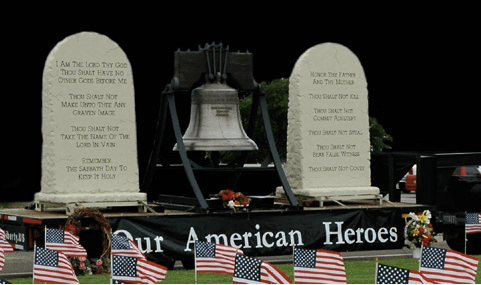 Ten Commandments and Traveling Liberty Bell in Branson for Veterans Home Coming Week