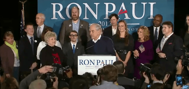 President Paul chant goes up as Ron Paul surges in New Hampshire