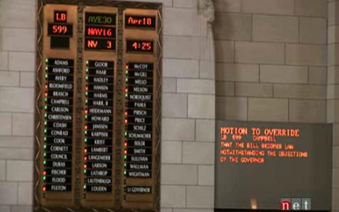 How NE Senators Voted: LB599 (and FUNDING) Veto Overrides