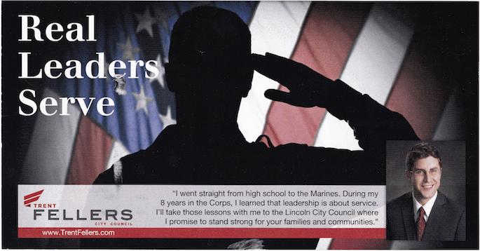 "Trent Fellers ""Leadership"" Campaign Mailer April 2013"