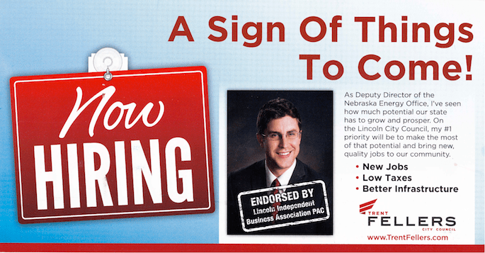 """Trent Fellers """"Now Hiring"""" Campaign Mailer April 2013"""