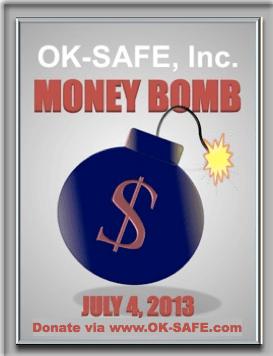 Get OK-SAFE Money Bomb Widget for your Website