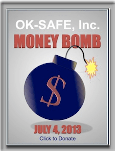 Framed OK-SAFE Money Bomb Graphic