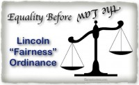 Lincoln Ordinance Equality Scales