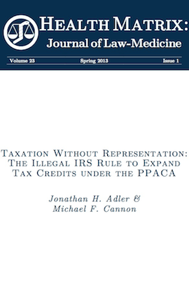 Click to read the journal article responsible for the legal challenges to the IRS rule