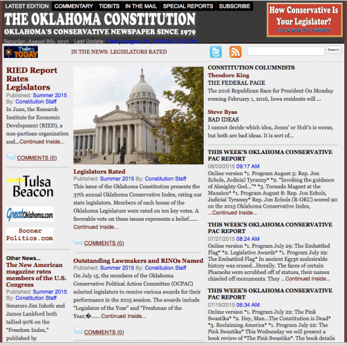 The Oklahoma Constitution Summer 2015 is out!