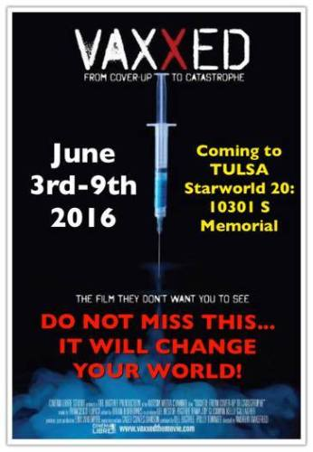 Vaxxed – the Film they didn't want you to see — coming to Tulsa Area June 3-9 2016