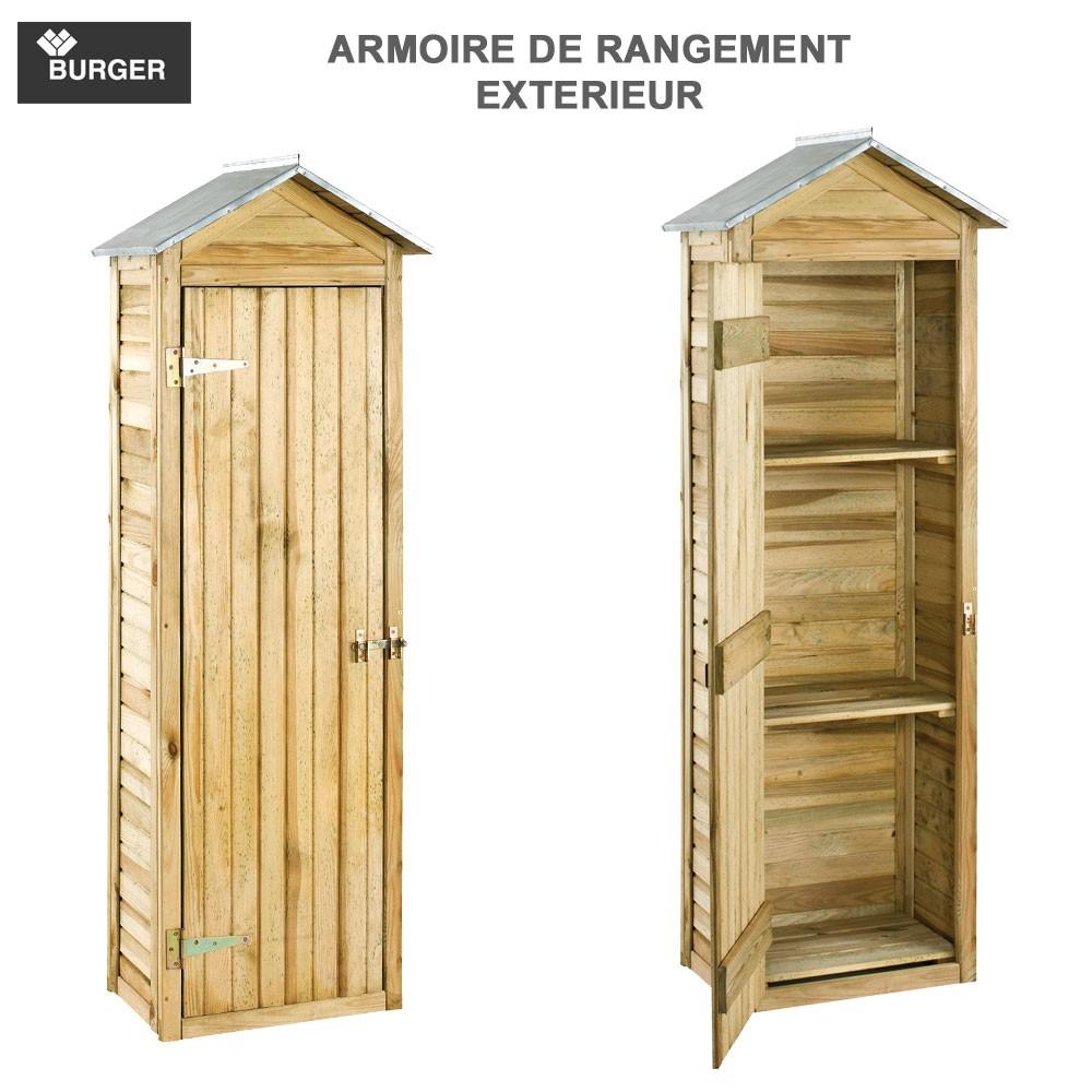 Armoire De Rangement De Jardin 63 X 43 X 181 Cm Burger