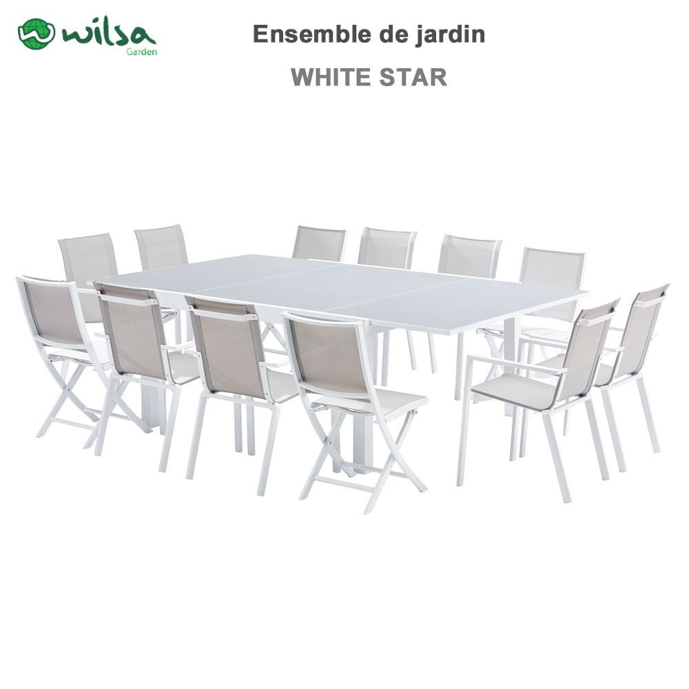 Salon Jardin 12 Places | Salon De Jardin Encastrable Merida ...