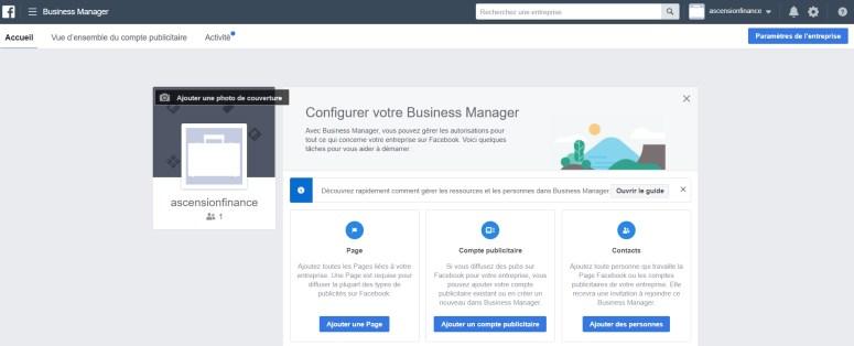 Voyons l'etude du facebook business manager, ses avantages et ses incovenients