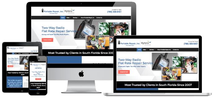 Portable Repair responsive website