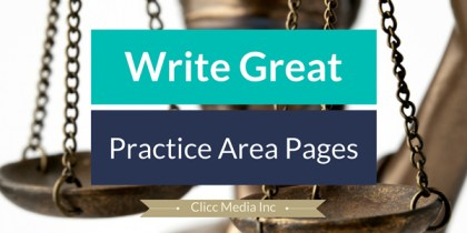 how to write practice area pages for your law firm
