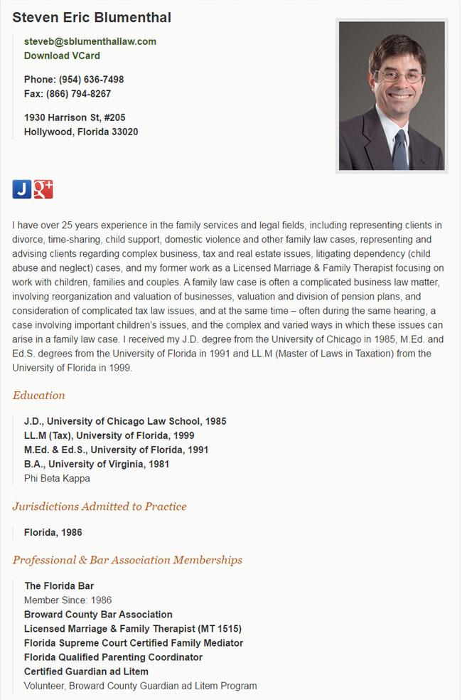 standard attorney resume