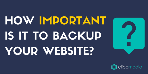 the importance of a website backup