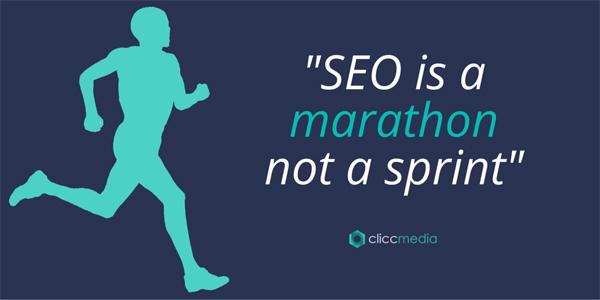 seo is a marathon