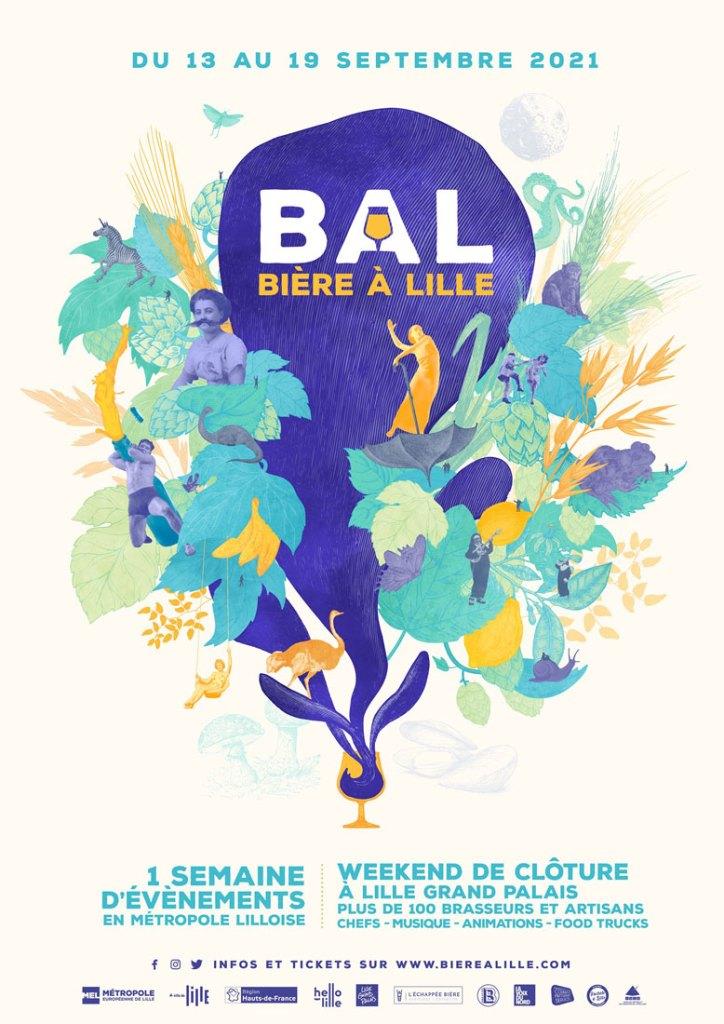 affiche festival bière à lille 2021