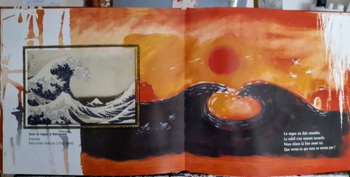 Sous la vague à Kanagawa-album le pont