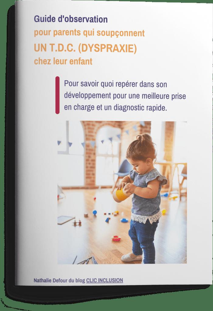 brochure guide d'observation pour déceler une dyspraxie