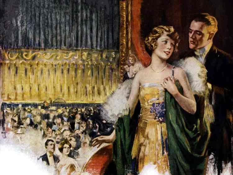 Newlywed couple at the opera