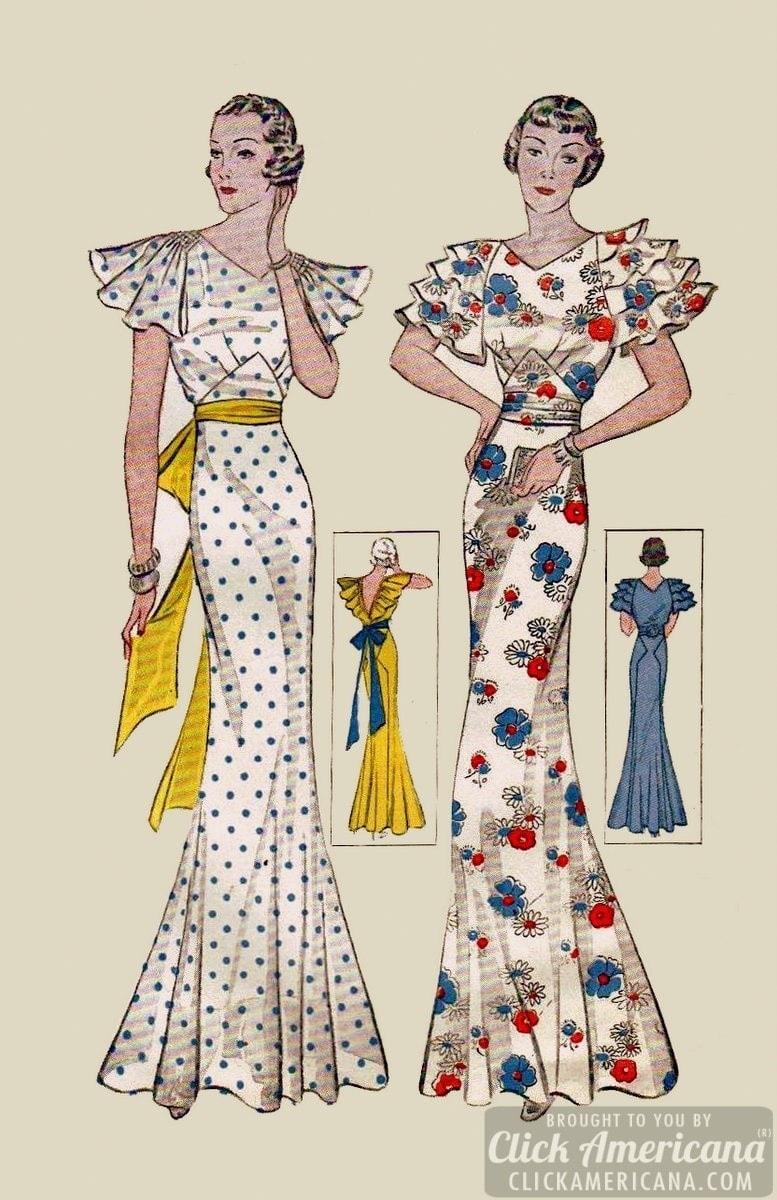 Stylish Daywear Amp Sportswear From The Mid Thirties 1935