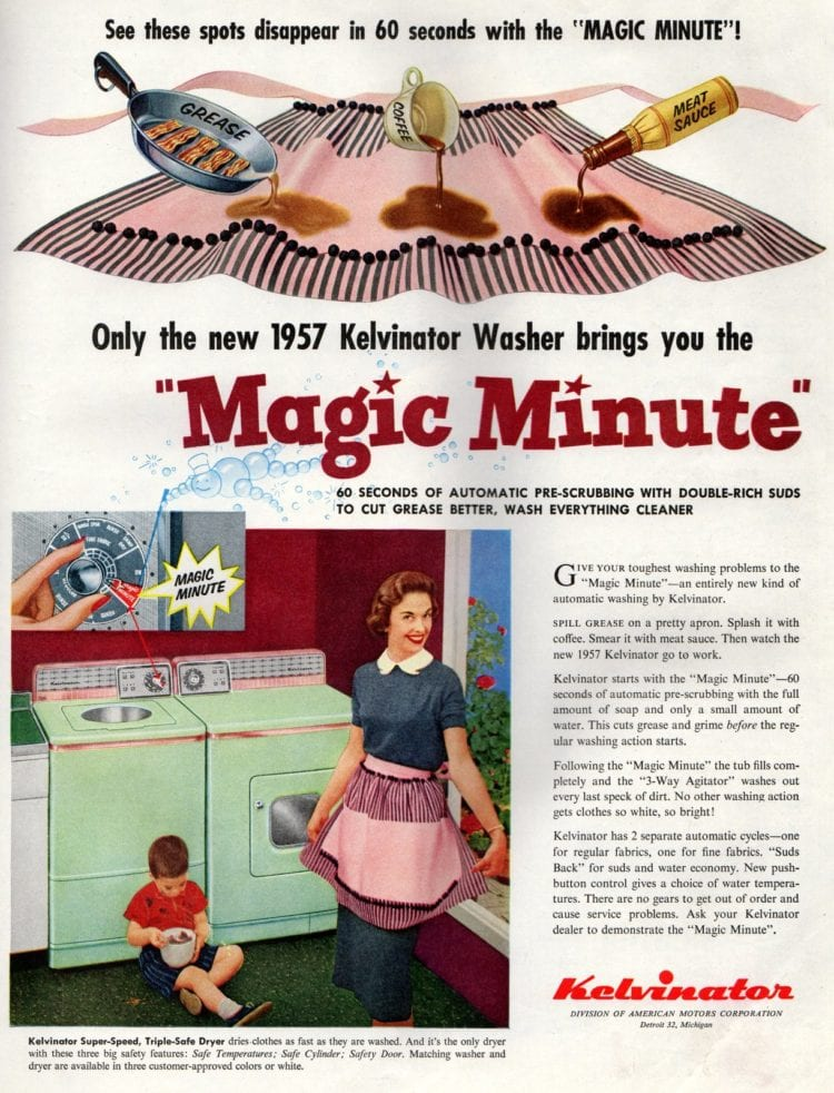 What was a vintage washing machine like in the '50s - 1957 Kevinator