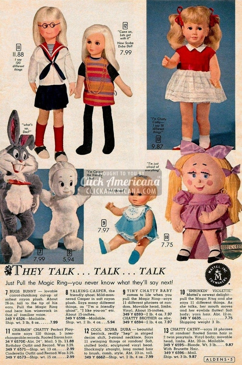 Talking Dolls Amp Toys Just Pull The Magic Ring 1964