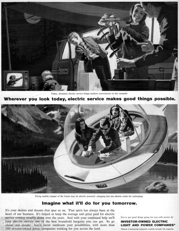 Flying cars - retro futurism from the sixties