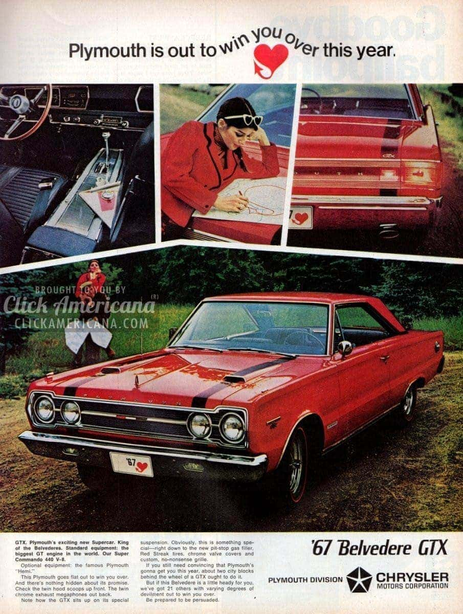 Plymouth Fury Valiant Belvedere Gtx For 1967 Click Americana 1960s Cars