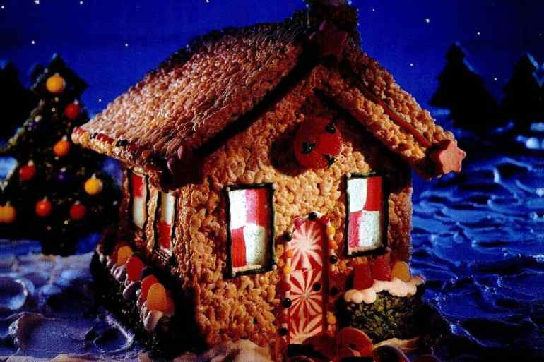 1999 Rice Krispie house Christmas holidays