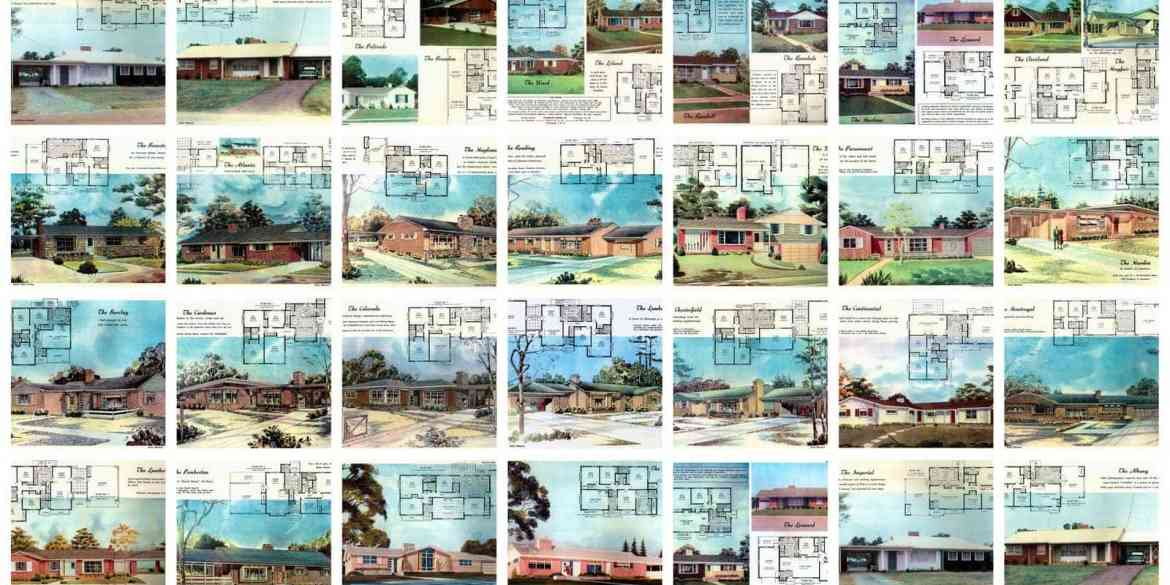 30 mid-century house plans from 1958