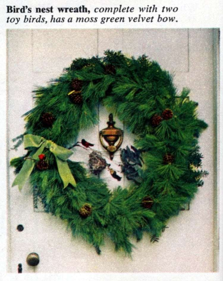 6 beautiful ways to make a welcoming Christmas wreath for your front door - Vintage crafts (2)