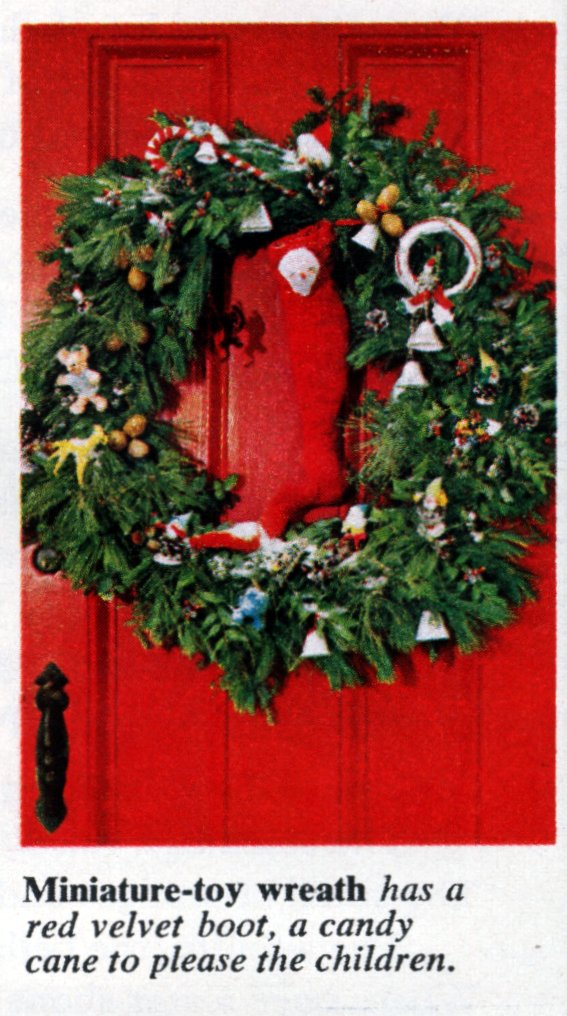 6 beautiful ways to make a welcoming Christmas wreath for your front door - Vintage crafts (4)