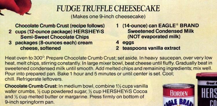 A classic chocolaty fudge truffle cheesecake recipe (1)