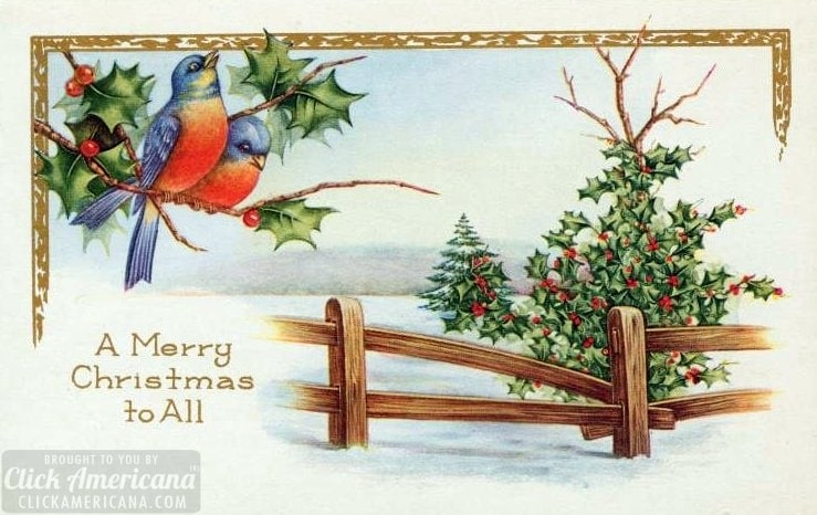 Antique and vintage Christmas postcards from the early 1900s at Click Americana (5)