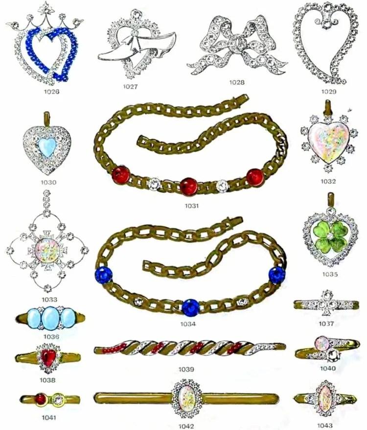 Antique gems and necklaces (2)