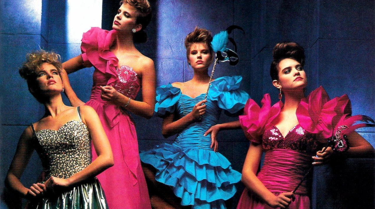 Pretty In Pink The Hottest Styles Colors For 80s Prom Dresses
